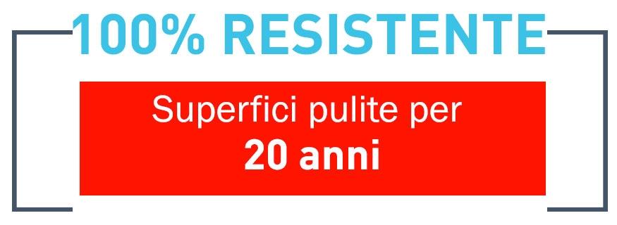 100% Resistente - Self Clean®